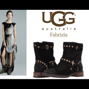 UGG Fabrizia Moto Ankle Boot with Stud Detail.